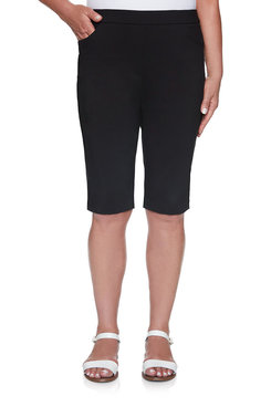 Image: Women's Slim-Fit Tummy Control Bermuda Pull-On Short