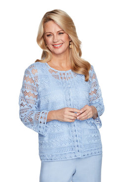 Image: Women's Solid Lace Two-For-One Top