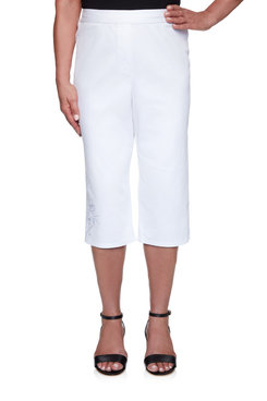 Image: Women's  Stretch Denim Capri