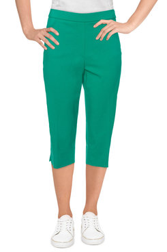 Image: Women's Stretch Slim-Fit Capri With Front Pockets