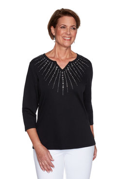 Image: Women's Sunburst Sparkly Embellished Top