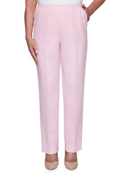 Image: Women's Textured Short Length Trouser Pant