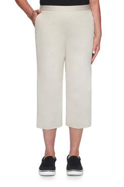 Image: Women's Twill Capri With Button Detail