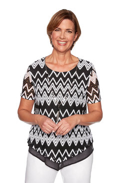 Image: Zig Zag Lace Top
