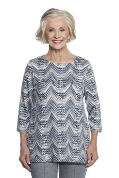 Image: Zig Zag Top With Necklace